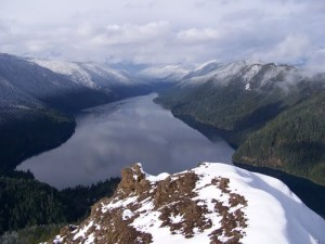 Lake Crescent from Mt. Stormking